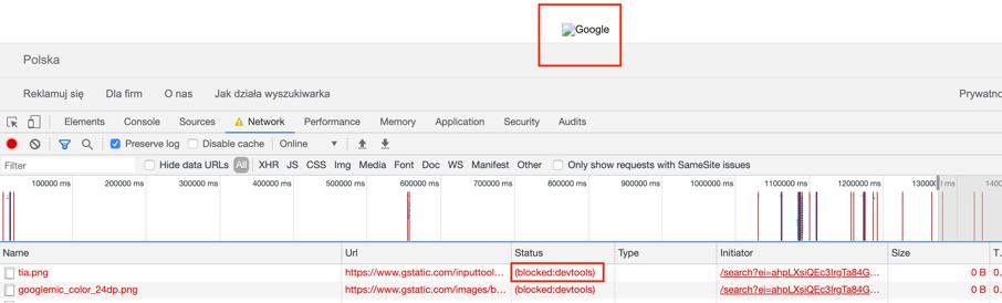 blokowanie url - testowanie oprogramowania